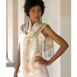 Feminine Silk Batik Scarf