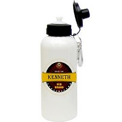 Personalized Old Brand Aluminum Water Bottle