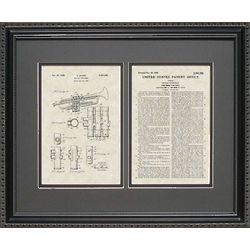Trumpet Framed Patent 16x20 Art Print