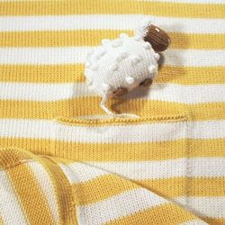 Hand-Knitted Lamb Pocket Blanket
