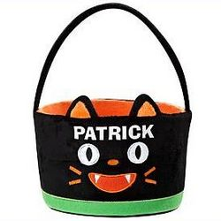 Personalized Black Cat Treat Bag