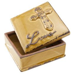 Amber Medium Love Ceramic Box