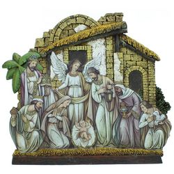 Nativity Scene with Angel Facade