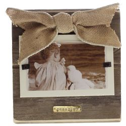 Burlap and Wood Cherish Picture Frame