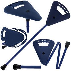 Flipstick Straight Folding Seat Cane Blue with Blue Bag