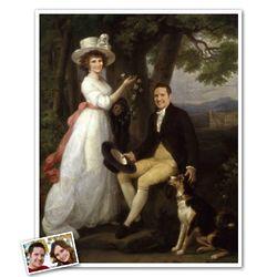 Custom Jenkins Family Portrait from Photos Print