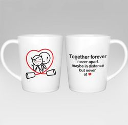 Together Forever Couple Coffee Mugs