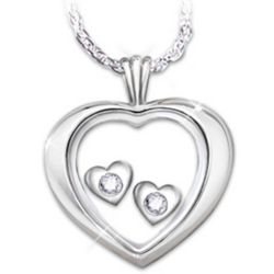 Always and Forever Heart Shaped Diamond Pendant Necklace