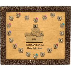 Personalized Physical Therapist Bears on Plaque