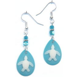 Turtle Drop Earrings