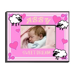 Personalized Girl's Counting Sheep Picture Frame