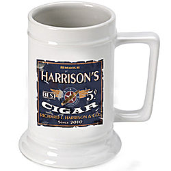 Personalized Patriot Cigar Beer Stein