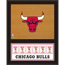 Chicago Bulls Championship Banner Plaque