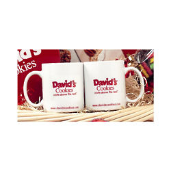 David's Cookies Logo Coffee Mug Set