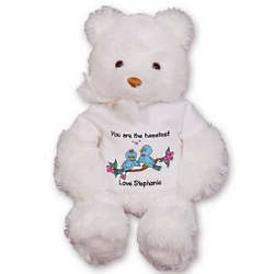 Personalized Love Birds Teddy Bear