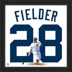 Prince Fielder Detroit Tigers Framed Jersey Photo
