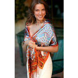 Springtime Silk Batik Scarf