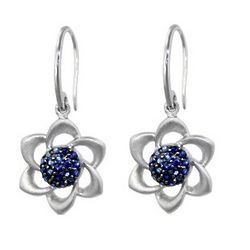 Sapphire Flower Earrings
