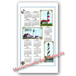 2013 Lighthouse Calendar Towel