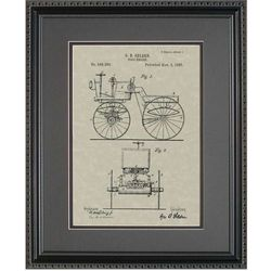 First Automobile Patent Framed Print