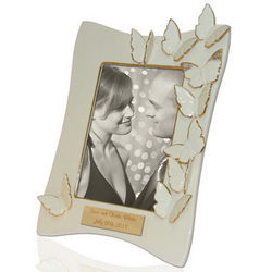 Personalized Flutter 5x7 Frame with Butterflies