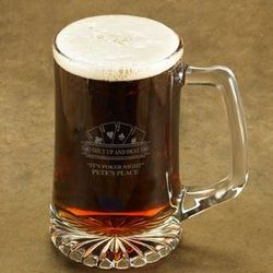 Personalized Poker Deal Beer Stein