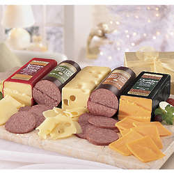 Postpaid Jumbo Sausage and Cheese Gift Box