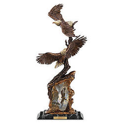 Soaring Spirits Illuminated Eagle Sculpture