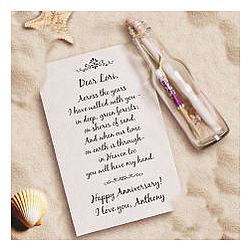 Shores of Sand Anniversary Message in a Bottle