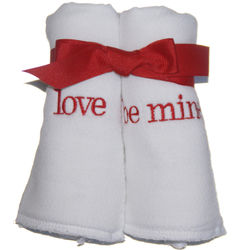 Valentine's Burp Cloth Set