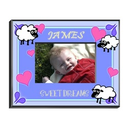 Personalized Boy's Counting Sheep Picture Frame