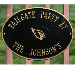 NFL Personalized Address Plaque