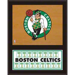 Boston Celtics Championship Banner Plaque