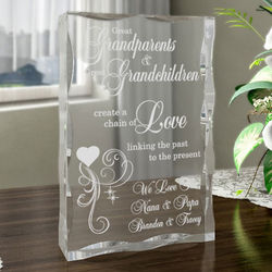 Personalized A Great Chain of Love Plaque