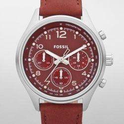 Flight Leather Watch in Red