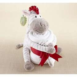 Baby Aspen Plush Zebra And Blanket Set