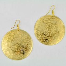 Etched Coin Earrings