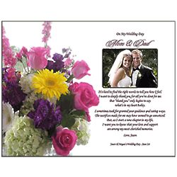 Personalized Parents Thank You Poem from Bride & Groom Print