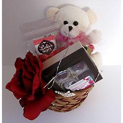 Valentine Sweetie Bear Gift Basket