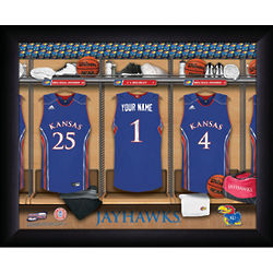 Personalized Kansas Jayhawk Basketball Locker Room Print