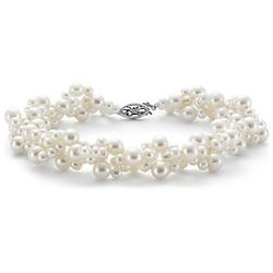 Freshwater Cultured Pearl Woven Bracelet