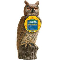 Solar Powered Rotating Head Garden Owl
