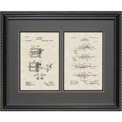 Fishing Reel & Lure Framed Patent Art Print