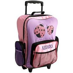 Ladybug Personalized Rolling Backpack