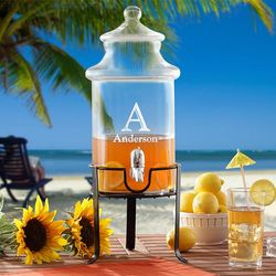 Personalized Drink Dispenser with Stand