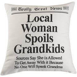 Local Woman Spoils Grandkids Pillow
