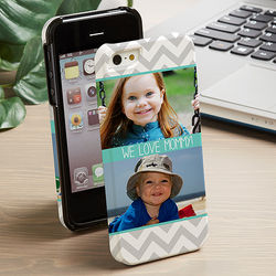 Picture Perfect Chevron iPhone 5 Two Photo Hardcase