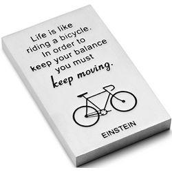 Einstein Quote Pewter Paperweight