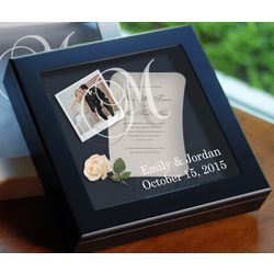 Wedding Wishes Keepsake Shadow Box