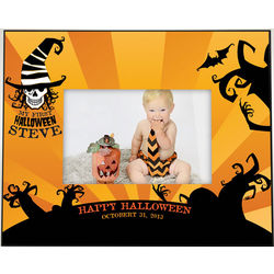 My First Happy Halloween Personalized Picture Frame